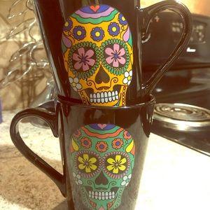 Other - Sugar Skull Coffee Mugs